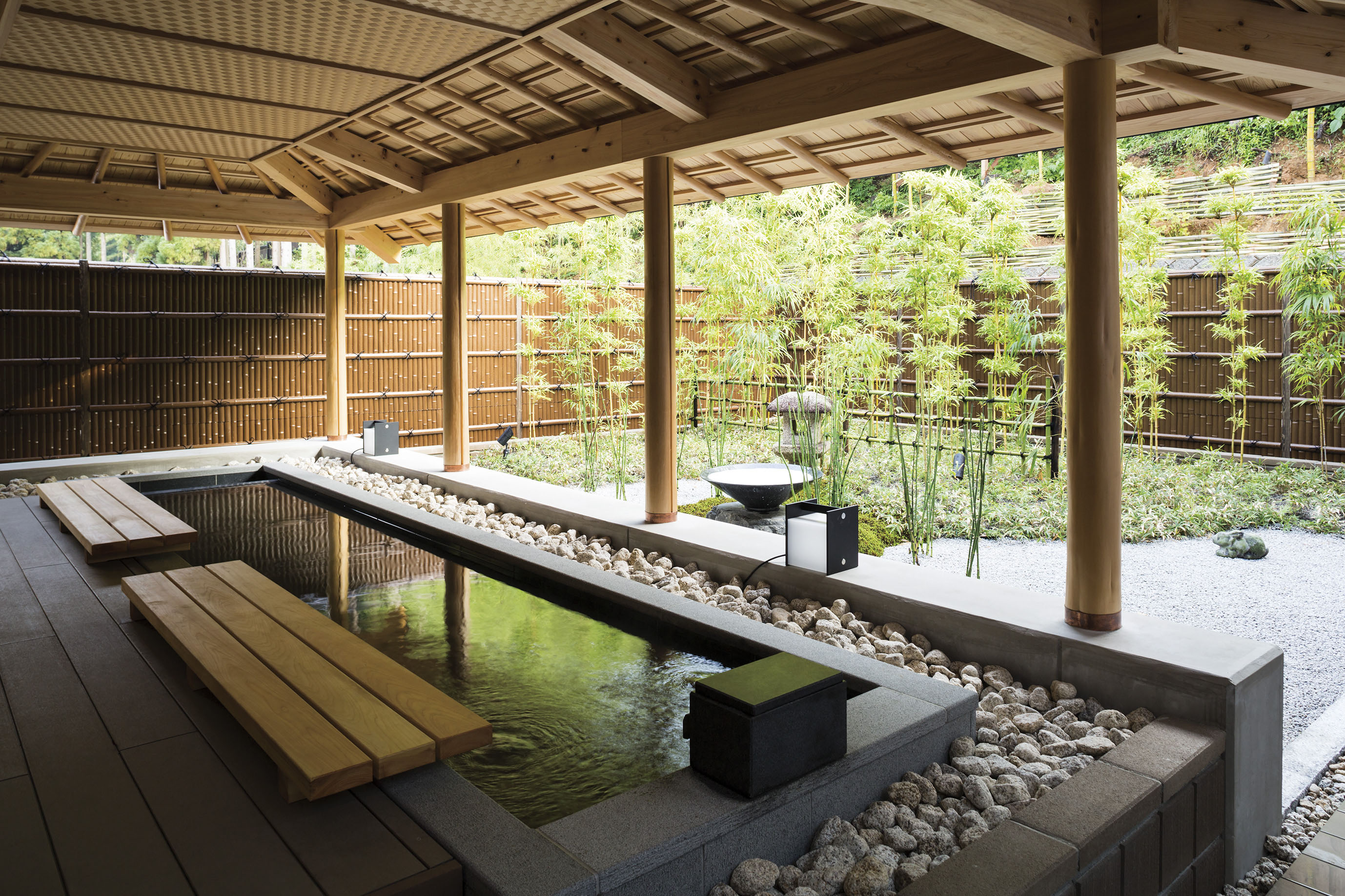 京都鷹峯の足湯