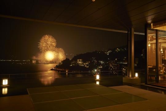「東急ハーヴェストクラブ熱海伊豆山」から見た花火