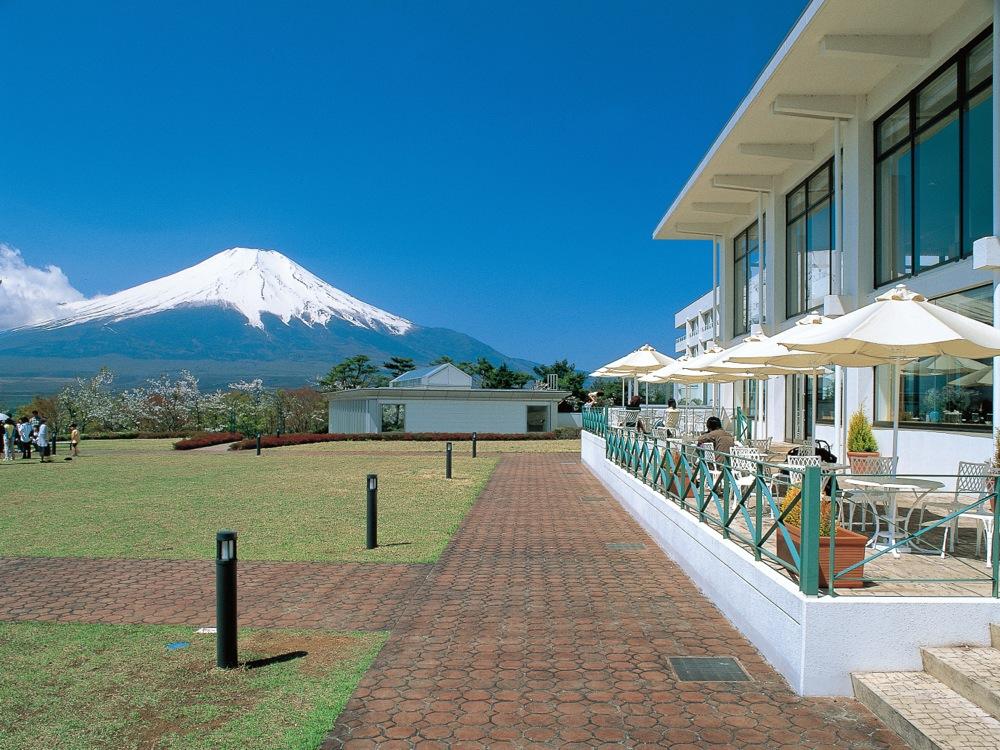 山中湖マウント富士から富士山を臨む