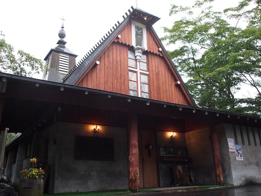 宣教師が来訪したことから、教会が多い軽井沢