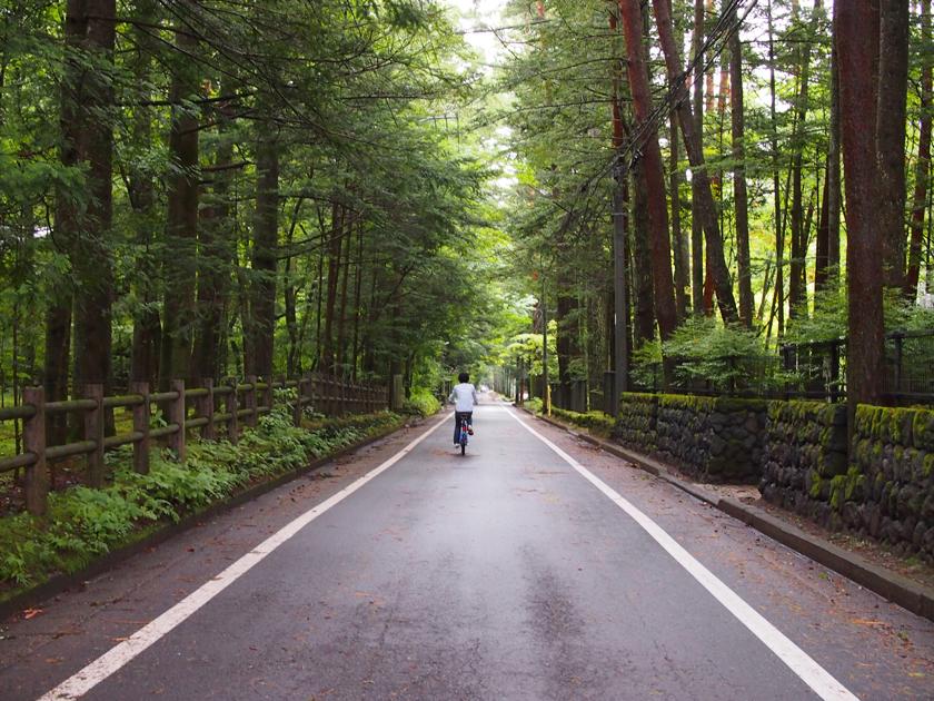 軽井沢の自転車散策は、本当に爽快でした。