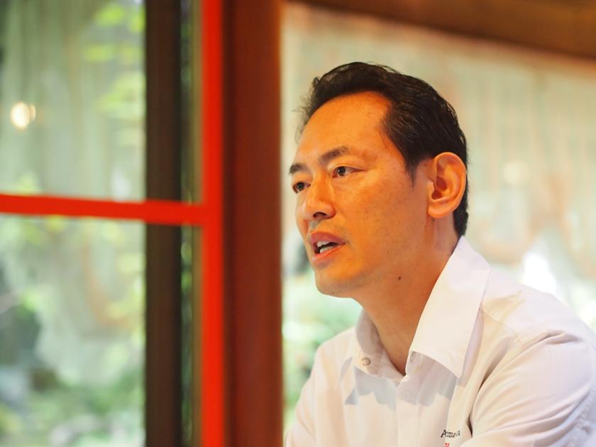 オーナーシェフ小沼康行さんの料理は、著名人のファンも多い