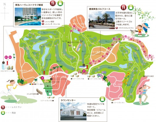 東急リゾートタウン勝浦MAP