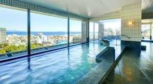 東急ハーヴェストクラブ伊東最上階の温泉大浴場