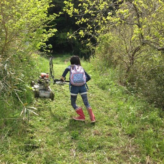実は、草刈りもできるし、山登りも沢登りも得意。これからどんな大人になるかな。