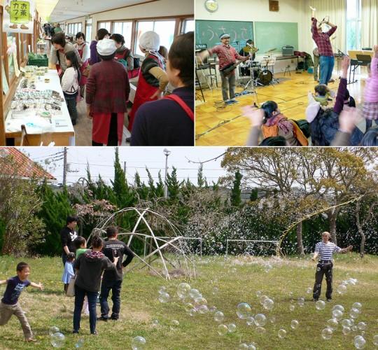 閉園になった幼稚園などを利用して企画・主催される「いすみライフマーケット」。バザーやイベントなどで子どもも楽しそうです。