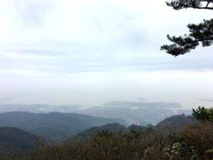 六甲山頂から神戸港を望む景色