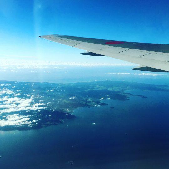 先日、上空から房総半島を見下ろしました。半島に向かってやたら手を振る!笑