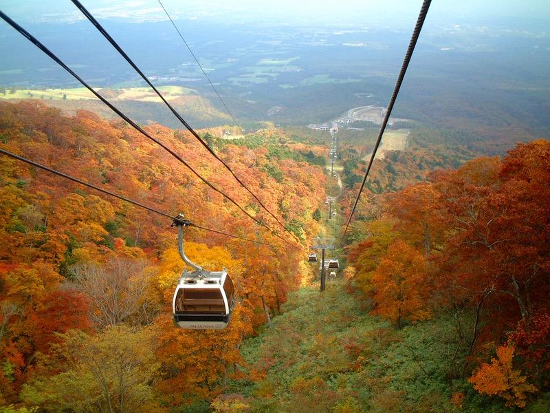 那須の紅葉を楽しむ人気スポット「マウントジーンズ 那須ゴンドラ」