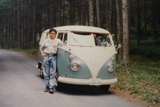 Volkswagen Type 2 delivery Van。八ヶ岳で見かけて欲しいなあと思っていたので、別荘を建てたときに購入。