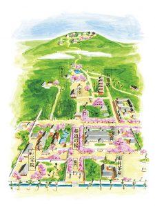 醍醐寺境内マップ