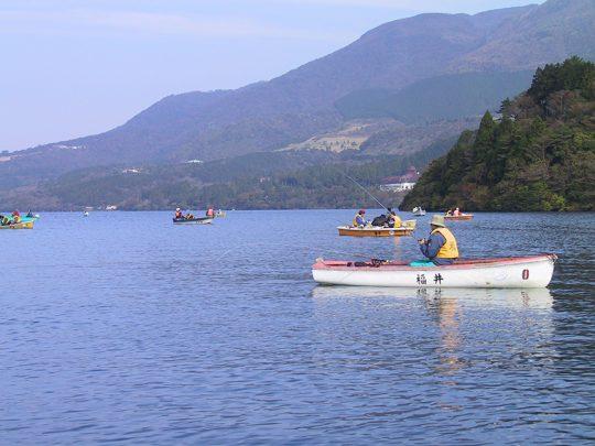 芦ノ湖のボート釣り