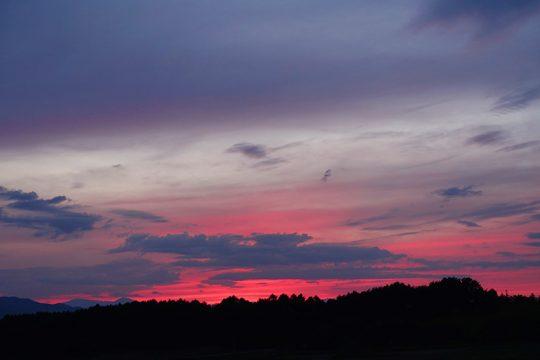 紅の夕焼け