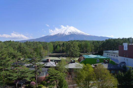 マンション9階から見渡す富士