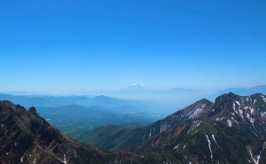 阿弥陀岳登山景色