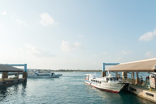 八重山各島へと渡ることができる離島ターミナル