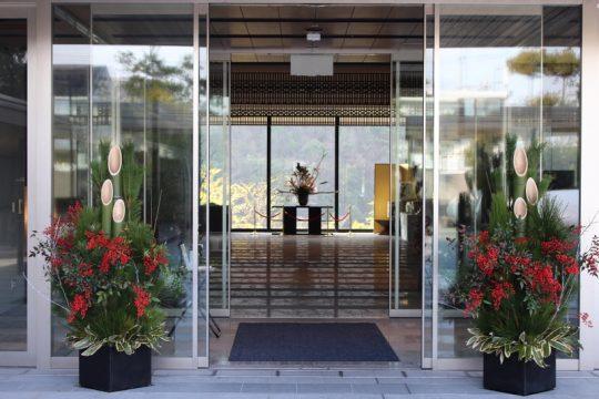 東急ハーヴェストクラブ京都鷹峯&VIALA(正面玄関お正月)