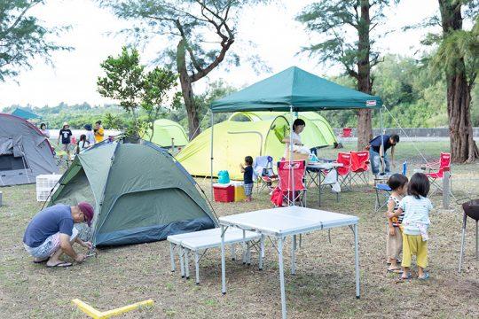 レンタル備品も充実したキャンプ場