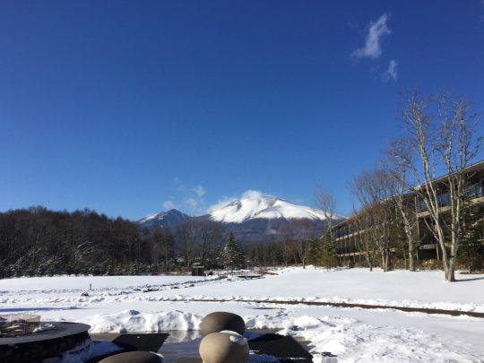 東急ハーヴェストクラブ軽井沢&VIALA グリーンフィールドの雪化粧
