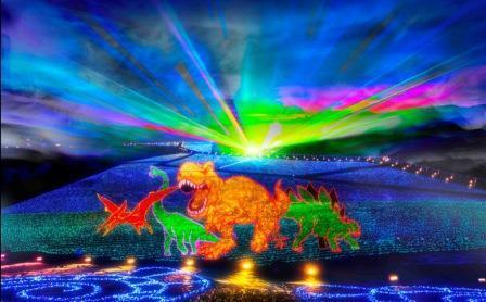 勝山ジオイルミネーションで恐竜の時代にタイムスリップ!