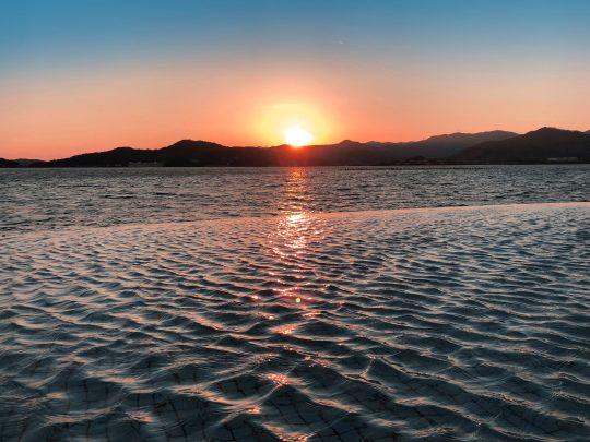 浜名湖の夕日
