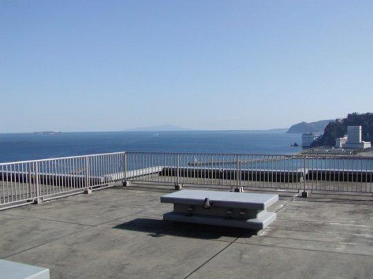 ゼファー熱海シーヒルズ屋上テラスからの眺め