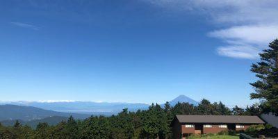 天城連山と富士山