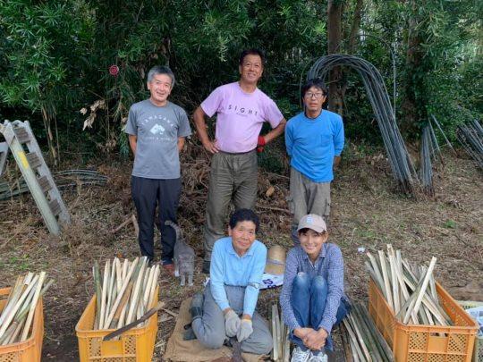安西農園、本日の竹ペグチーム。