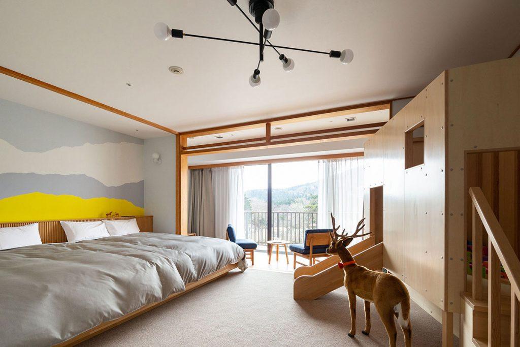 天城高原大きなベッドルーム