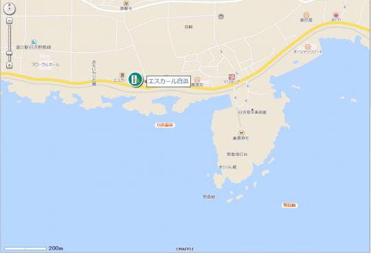 エスカール白浜地図