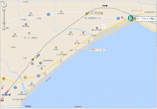 サーフサイド鴨川地図