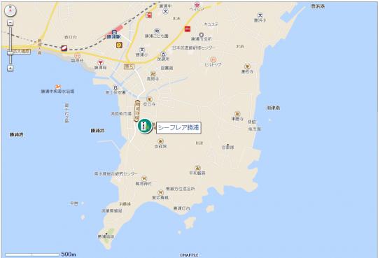 シーフレア勝浦地図
