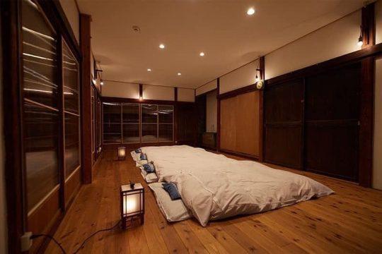 川の字で寝る部屋。